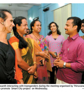 Smart City: Mayor interacting with Transgenders